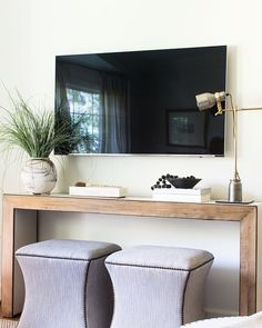 """: """"To place a tv in a room or not. And if you do, where is the best place to hang it? Read my…"""" Entryway Bench, The Good Place, Media Matters, Storage, Places, Room, Furniture, Tv, Home Decor"""