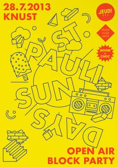 2013, poster for the electronic open air st. pauli sundays in hamburg/germany