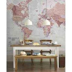 weltkarte poster xxl fototapete retro world map. Black Bedroom Furniture Sets. Home Design Ideas