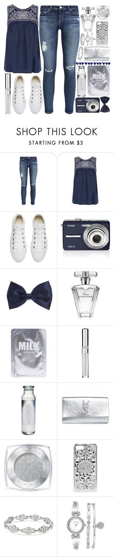 """Let the games begin~AJR"" by a-hidden-secret ❤ liked on Polyvore featuring AG Adriano Goldschmied, New Look, Converse, Kodak, Forever 21, Avon, Lapcos, Chantecaille, Yves Saint Laurent and L'Oréal Paris"