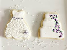 Wedding Bride Cookies, Galletas vestido de la novia, Hochzeitskleid-Kekse by Atelier Pastry Fork