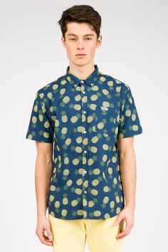 Guys All Over Print Pineapple Classic Shirt