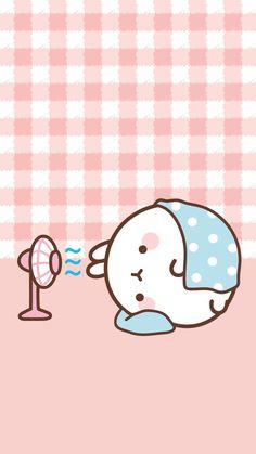 Rabbit hot bunny cooling off with the fan Chibi Kawaii, Kawaii Doodles, Cute Kawaii Drawings, Cute Doodles, Kawaii Art, Cute Cartoon Images, Cute Cartoon Wallpapers, Cartoon Pics, Soft Wallpaper