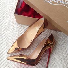 Copper Stiletto Pumps fashion shoes shiny high heels stilettos pumps copper gloss bronze