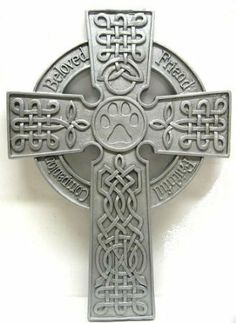 """Pet Memorial Garden Stake - Paws 'N Remeber (30"""" tall) by Encore by Encore. $21.00. memorial garden stake. 30.5"""" tall. celtic cross. metal cross with embossed designs and sayings """" FRIEND"""" , FAITHFUL, BELOVED, COMPANION,. Memorial Celtic cross , includes a tall garden stake for fixing into the ground or unscrews if not using it. ."""