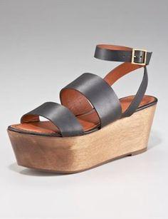 elizabeth and james ankle-wrap flatform sandal, $245  WHY?????