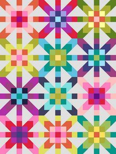 rainbow12 by Jo{ki}, via Flickr cutting instructions for Supernova block via Riddle and Whimsy