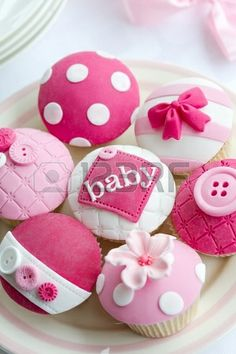 Baby shower cupcakes [Stock Photo]