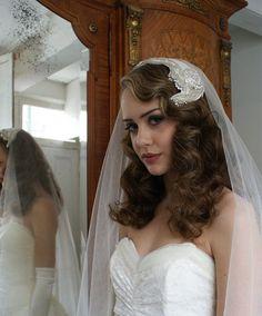 So pretty veil.   Repin by Inweddingdress.com