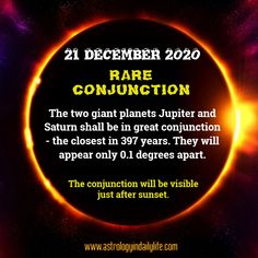 Two mighty planets - Jupiter & Saturn - come together so close, that they appear as one star! Birth Horoscope, Your Horoscope, Permutations And Combinations, I Am Shocked, Poor Children, Birth Chart, Understanding Yourself, Health Problems, Of My Life