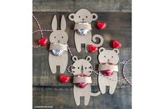 Slikovni rezultat za animals of africa-craft in kindergarten Cute Valentines Day Ideas, Kinder Valentines, Valentines Sweets, Africa Craft, Origami, Blog Bebe, Valentines Bricolage, Diy Gifts, Handmade Gifts