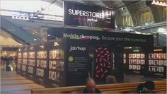 Virtual stores are popping up using QR codes to push mCommerce forward - This one at Stockholm Central Railway station.  http://www.momarf.org/the-quest-to-identify-mobile-device-shoppers-2/  http://www.jetshop.se/mobile/index.php?q=superstore