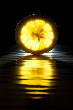 It's a Colorful Life ~ — Colors ~ Black, White and Yellow Yellow Photography, Fruit Photography, Reflection Photography, Still Life Photography, Light Photography, Macro Photography, Creative Photography, Mellow Yellow, Black N Yellow