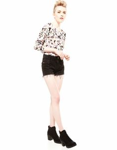 Bershka Turkey - Bershka back bow floral jumper