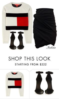 """""""Untitled #3721"""" by teastylef ❤ liked on Polyvore featuring Tommy Hilfiger, Isabel Marant and Carven"""