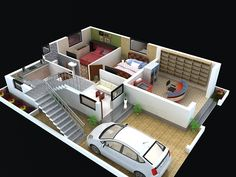 images about D Floor Plan on Pinterest   Free floor plans    Floor plan for modern duplex floors  house  Click on this link   to view   floor plans  naksha  and other specifications for this design