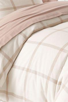5-ounce Flannel Yarn Dye Reverse Windowpane Duvet Cover or Sham from Lands' End
