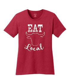 Look at this Red 'Eat Local' Tee on #zulily today!