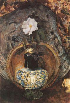 Dogrose 1884 Mikhail Vrubel