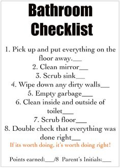 You give them the detailed job cards and then off they go to help you keep a clean house! Good idea to have a checklist for each room. Chore Cards, Task Cards, Just In Case, Just For You, How To Clean Mirrors, Chores For Kids, Chore List For Kids, Just Dream, Do It Yourself Home