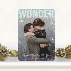 Wonder Overlay - Flat Holiday Photo Cards in a beautfiul Peppermint Blue #Holidays #Christmas