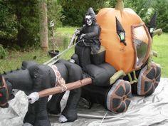 New Gemmy 10' Haunted Pumpkin Carraige Lighted Halloween Airblown Inflatable | eBay