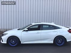 This 2017 Honda Civic FWD is running Enkei 40 wheels Achilles Atr Sport tires with Stock Stock suspension. Honda Civic Vtec, Honda Civic Sedan, Future Car, Dream Cars, Automobile, Achilles, Sport, Gallery, Blue