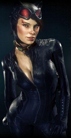 Catwoman from Batman: Arkham Knight - Batman Poster - Trending Batman Poster. - Catwoman from Batman: Arkham Knight Catwoman Cosplay, Batman Und Catwoman, Cosplay Gatúbela, Batman Art, Batman Arkham Knight Catwoman, Batman Robin, Batman Arkham Asylum, Batman Poster, Marvel Girls