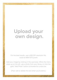 Paperless Post - Custom Foil (Tall) - Gold by Paperless Post