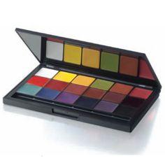 Ben Nye Ultimate F/X Palette, 18 Colors, 1.5 oz | Professional Quality Makeup for Moulage & Live Performance | MakeupMedley.com