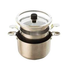 Natural Home Stainless Steel Stock Pot 4-Piece Set - $47.  This 4-piece stockpot set includes one 4-quart and one 6-quart pots with lids. Part of our innovative, award-winning cookware line, the stockpot set is sized perfectly for a diversity of cooking needs and minimizes the clutter in your kitchen with its space-saving functionality.