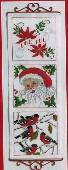 MERRY CHRISTMAS ANCHOR X STITCH KIT (9240-2513) SANTA XMAS BANNER