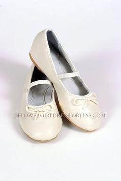 S27I - Fancy Ballet Shoe (for older girls) IVORY - Pick-up Dresses - Flower Girl Dress For Less