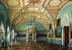 Гау Э.П. Виды залов Зимнего дворца. Третий зал Военной галереи. Эрмитаж
