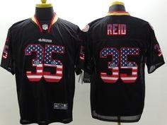 Men s 2015 Nike NFL San Francisco 49ers 35  Eric Reid Black Flag Fashion  Elite Jerseys 4c46d3620