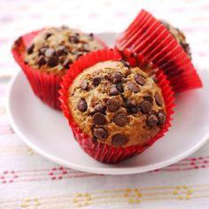Muffins pépites de chocolat (pour 18 muffins moyens)