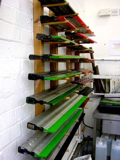 Sqeegee wall #screenprinting #spshop