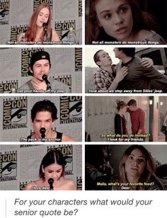 Holland Roden, Dylan O'Brien, Tyler Posey, & Shelley Hennig on their favorite things their characters have said on Teen Wolf Teen Wolf Quotes, Teen Wolf Memes, Teen Wolf Funny, Teen Wolf Stydia, Teen Wolf Stiles, Teen Wolf Cast, Dylan O'brien, Teen Wolf Dylan, Malia Tate