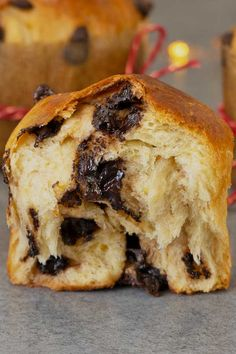 Mini chocolate panettone recipe that's so easy to make. Soft and fluffy with bits of chocolate all over. Swap the chocolate for candied fruits if you want. Holiday Baking, Christmas Baking, Vegetarian Chocolate, Chocolate Recipes, Panatone Bread, Nutella Star Bread, Gourmet Recipes, Cooking Recipes, Christmas Bread
