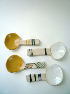 Clay coffee spoons