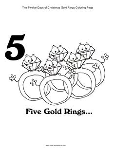 twelve days of christmas coloring pages partridge drummer boy gold ring - 12 Redneck Days Of Christmas Lyrics