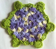 Ode to a hydrangea dishcloth ~free pattern