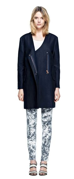 Linen Structure Coat | Outerwear | Woman | Filippa K // side note: loving her hair length and style