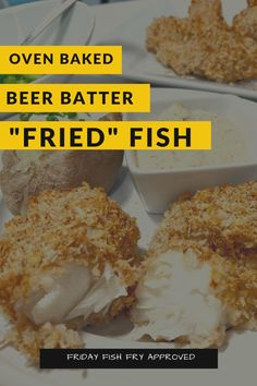 Oven-Baked Wisconsin Beer Batter Recipe for those days when you don't want to use a fryer. Beer Batter Recipe, Fish Friday, Homemade Tartar Sauce, Beer Battered Fish, Panko Bread Crumbs, Fried Fish, Oven Baked, Baking Pans, Wisconsin