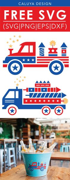FREE July 4th truck cut file, Printable vector clip art download. Free printable clip art. Compatible with Cameo Silhouette, Cricut explore and other major cutting machines. 100% for personal use, only $3 for commercial use. Perfect for DIY craft project with Cricut & Cameo Silhouette, card making, scrapbooking, making planner stickers, making vinyl decals, t-shirts making , fashion, apparel, HTV, and more! Free Fire works truck SVG cut file, July forth SVG cut file, American Truck SVG cut…