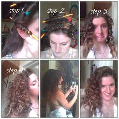 Heatless Curls Using Pencils