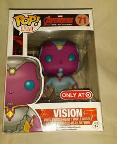 Funko Pop Marvel Avengers 2: Vision #71 Phasing Target Exclusive Vinyl Figure NOTE THIS IS A MUST BUY.