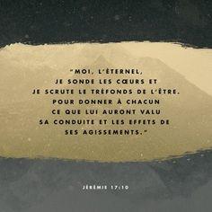Moi L'Eternel...