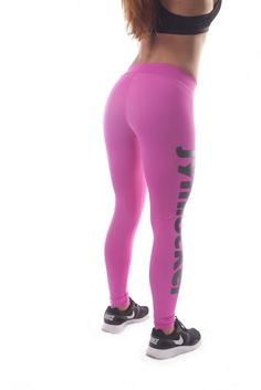 Jym Locker Ladies Full Length Compression Tights Pinkblack Compression Leggings