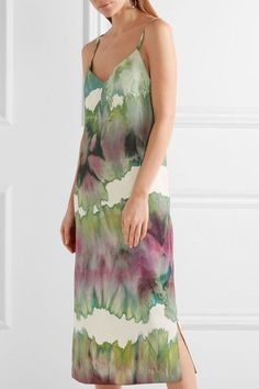 Acne Studios - Sway Printed Crepe Midi Dress - Light green - FR